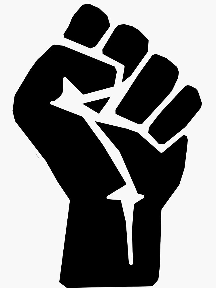 FIST, Black, Rebellion, Strength, Power, Grasp, Grab, Hold, Tough, MMA by TOMSREDBUBBLE