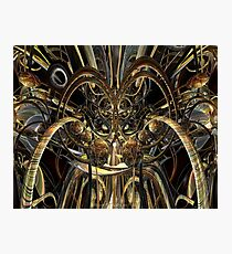Abstract Horned Owl Fx  Photographic Print