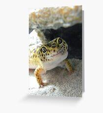 Gecko Smile Greeting Card