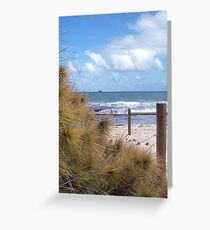 Horizon Clouds Three Greeting Card