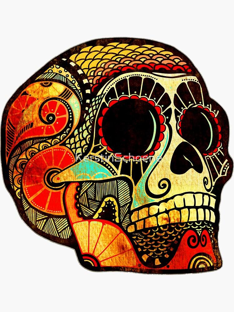 Grunge Skull von KerstinSchoene