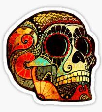 Grunge Skull Sticker