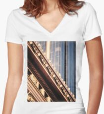 Contrast, Martin Place Women's Fitted V-Neck T-Shirt