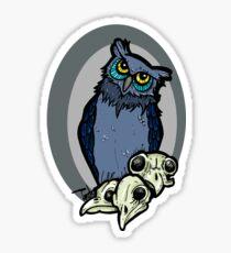 Owl and skull Sticker