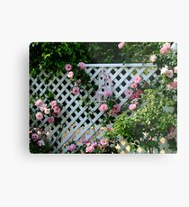 Rosalee Cottage Garden Metal Print
