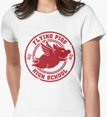 Flying Pigs Women's Fitted T-Shirt