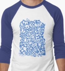 Lots of Robots Men's Baseball ¾ T-Shirt