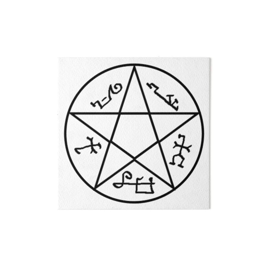 Devils Trap Symbol Devil S Trap Tattoo In Designs By Scott Knight