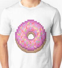 Pixel Pink Frosted Sprinkled Donut Unisex T-Shirt