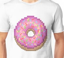 Pixel Pink Frosted Sprinkled Donut Unisex T-Shirt