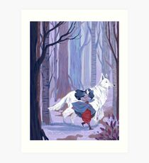 Luthien to the Rescue Art Print