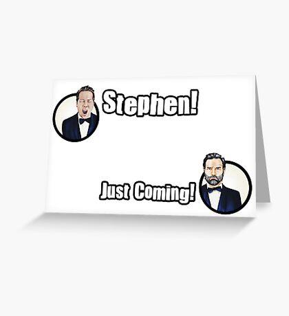 Adam and Joe: Stephen Card! Greeting Card