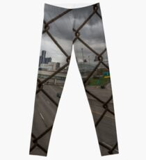 Detroit Fenced In  Leggings
