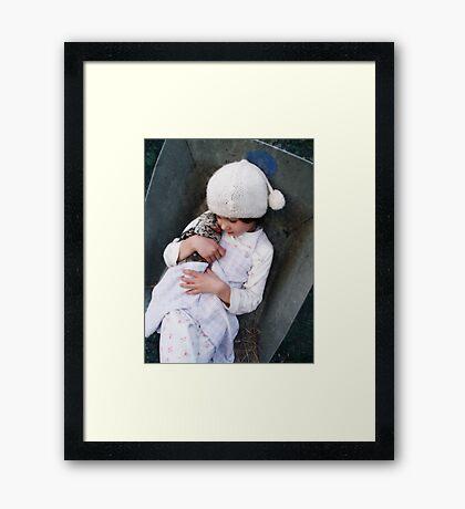 Innocence is Bliss Framed Print