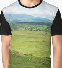 hikers route with mountain view Graphic T-Shirt