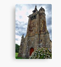 Historical Roman Church in Brittany Canvas Print