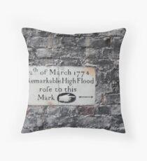 Twickenham flood marker Throw Pillow