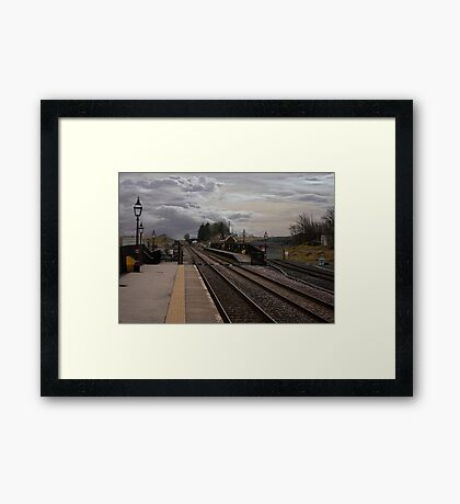 Countryside Station Framed Print