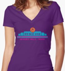Peach Pit- Beverly Hills 90210 Women's Fitted V-Neck T-Shirt