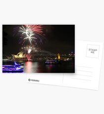 Fireworks at Sydney Postcards