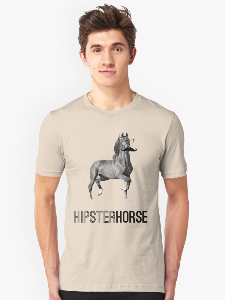 Hipster Horse Unisex T-Shirt Front