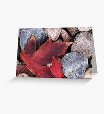 Fallen Leaf Greeting Card