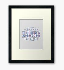 Cross Stitch - Hookers & Hightops - Blue/Purple Framed Print
