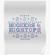 Cross Stitch - Hookers & Hightops - Blue/Purple Poster