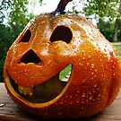 Happy Pumpkin On The Porch by Bine