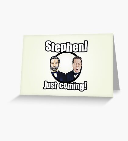 Adam and Joe: Stephen Card! 2 Greeting Card