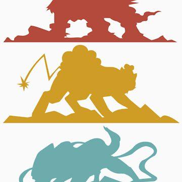 Three Legends (Pokemon) by ABRAHAMSAPI3N
