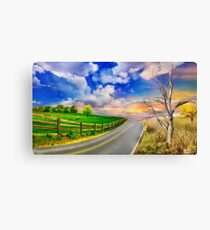 Autumn In Romania Countryside Road Canvas Print