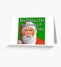 Trump Santa Greeting Card