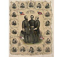 Confederate Generals of The Civil War Photographic Print