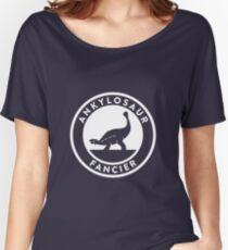 Ankylosaur Fancier (White on Dark) Women's Relaxed Fit T-Shirt