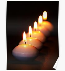 Five Candles in a Row Poster