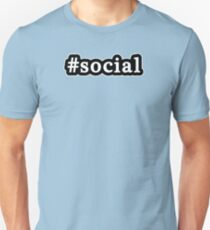 Social - Hashtag - Black & White T-Shirt