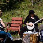 Kim Beggs at Kluane Mountain Blue Grass Camp by Yukondick