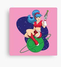 Space Girlie Canvas Print