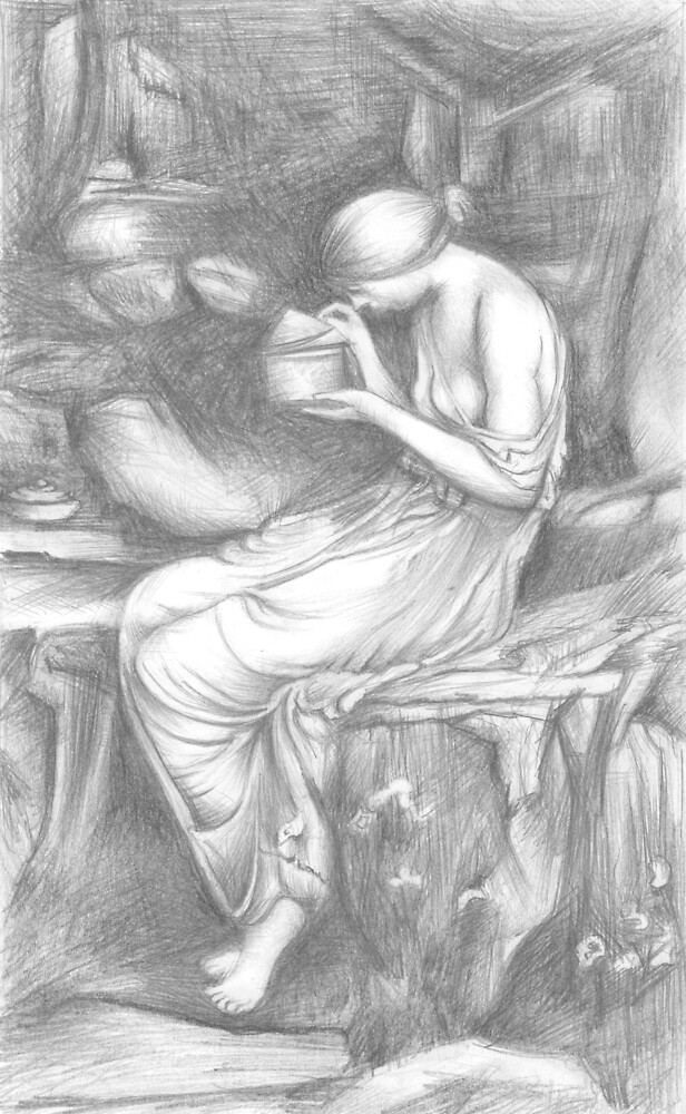 Psyche Opening the Golden Box by jovica