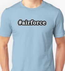 Air Force - Hashtag - Black & White Unisex T-Shirt