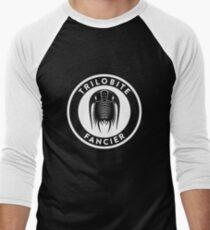 Trilobite Fancier (white on dark) Men's Baseball ¾ T-Shirt