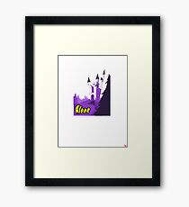 Halloween spooky alone at the castle  Framed Print
