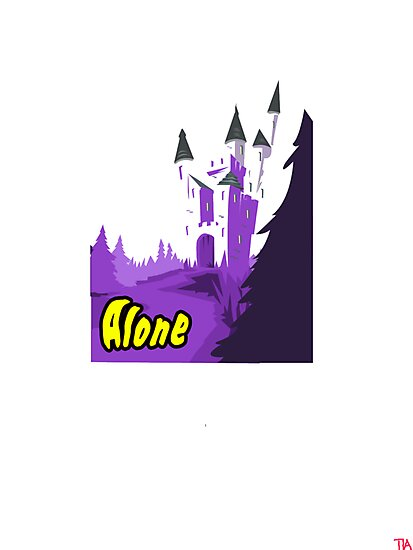 Halloween spooky alone at the castle  by Tia Knight