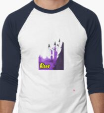 Halloween spooky alone at the castle  Men's Baseball ¾ T-Shirt