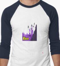 Halloween spooky alone at the castle  Men's Baseball ¾ T-Shirt