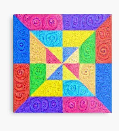 DeepDream Color Squares Visual Areas 5x5K v1448115896 Metal Print