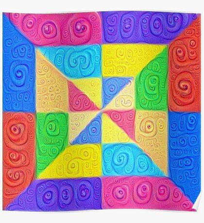 DeepDream Color Squares Visual Areas 5x5K v1448115896 Poster
