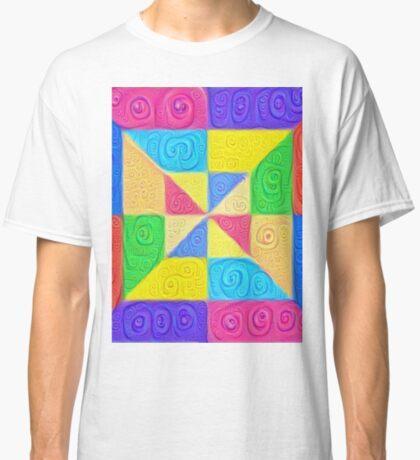 DeepDream Color Squares Visual Areas 5x5K v1448115896 Classic T-Shirt