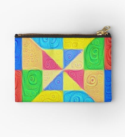 DeepDream Color Squares Visual Areas 5x5K v1448115896 Zipper Pouch